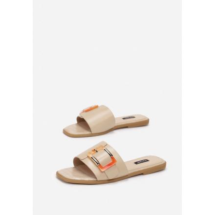 Beige women's slippers 7356-42-beige