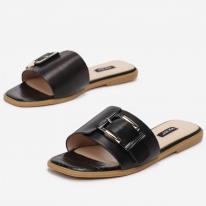 Black Women's slippers 7356-38-black