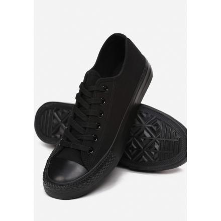 Women's black sneakers KA32- KA32-38-black