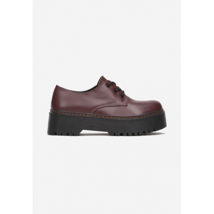 Burgundy Half shoes 8585- 8585-453-w.red