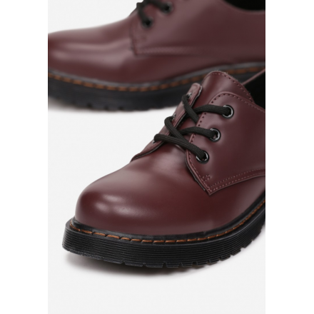 Burgundy low shoes 8586- 8586-453-w.red