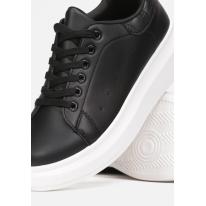 Black and White Sneakers 8538-1B 8538-1B-98-black/white